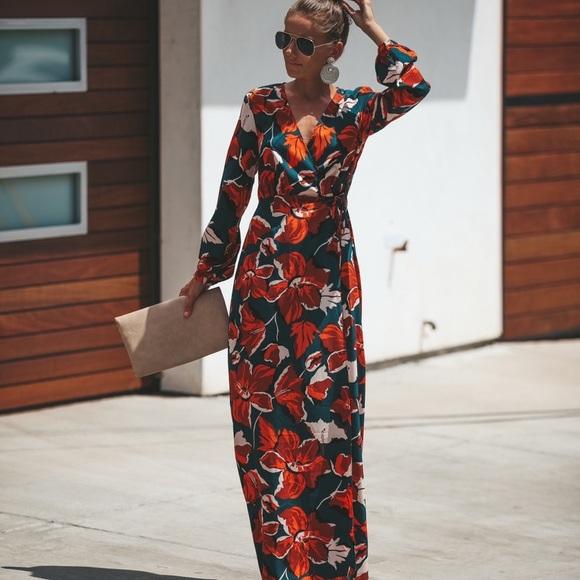 da34e8334 Vici Tangerine Tropics Wrap Maxi Dress. M_5bd65565c2e9fec176d8620d